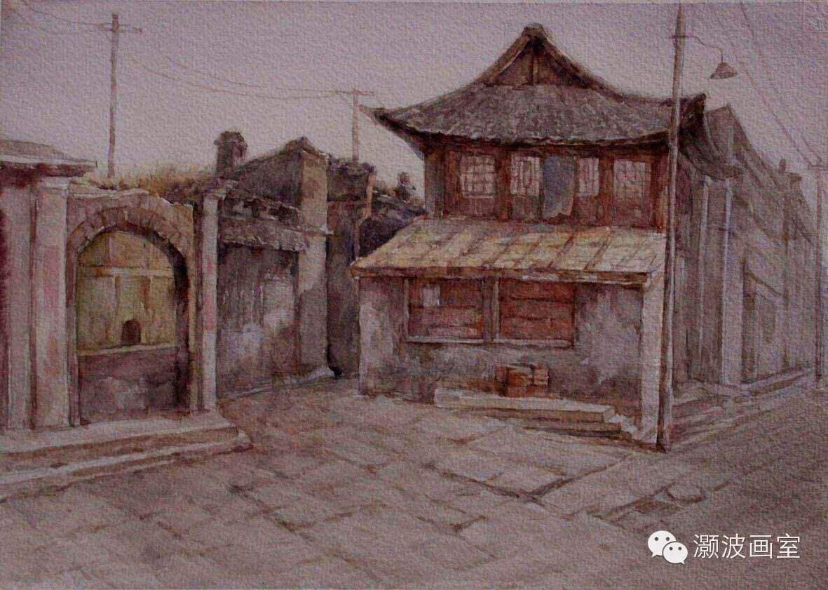 著名蒙古族青年水彩画家宝玉作品欣赏 第14张