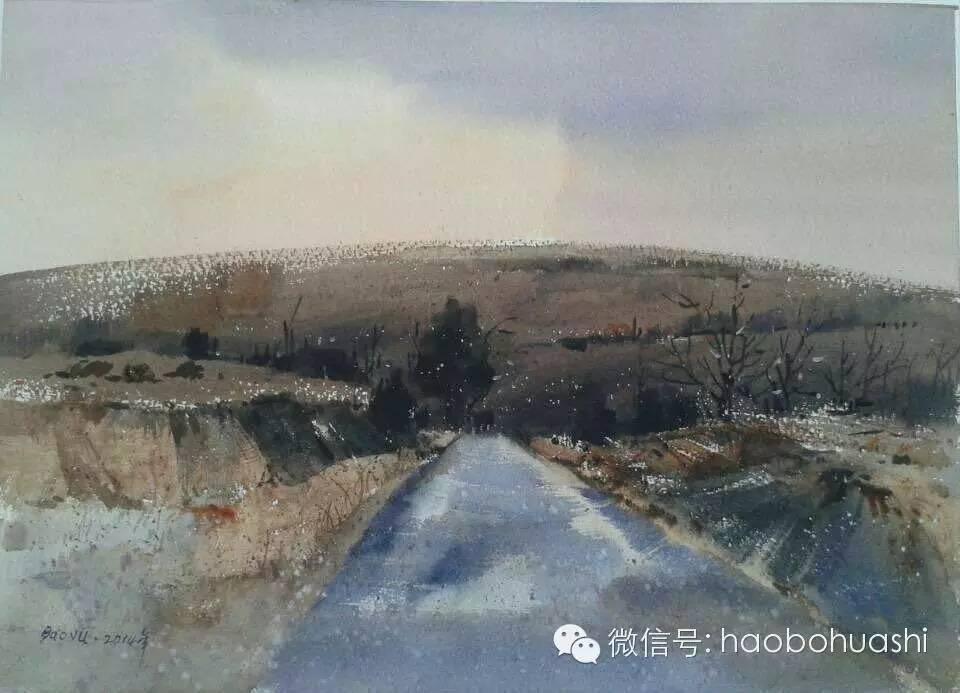 著名蒙古族青年水彩画家宝玉作品欣赏 第16张