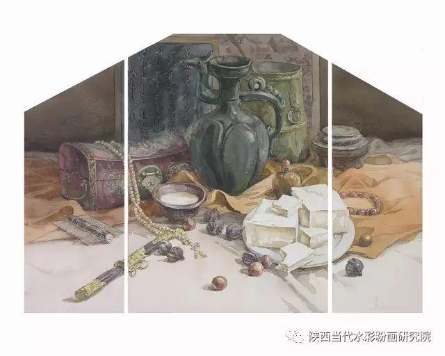 盘丝洞  孟巴伊森水彩作品欣赏 第4张