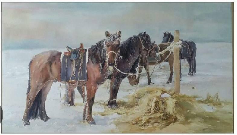 蒙古族青年画家白国君作品欣赏 第6张