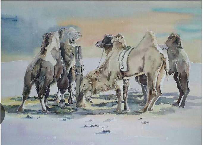 蒙古族青年画家白国君作品欣赏 第5张