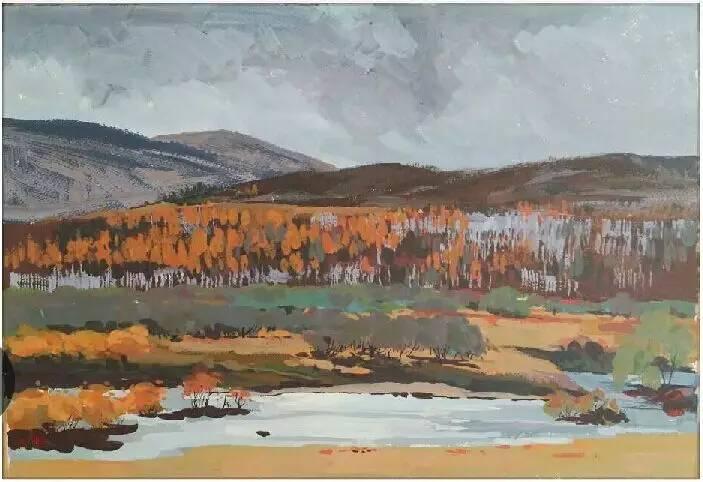 蒙古族青年画家白国君作品欣赏 第4张