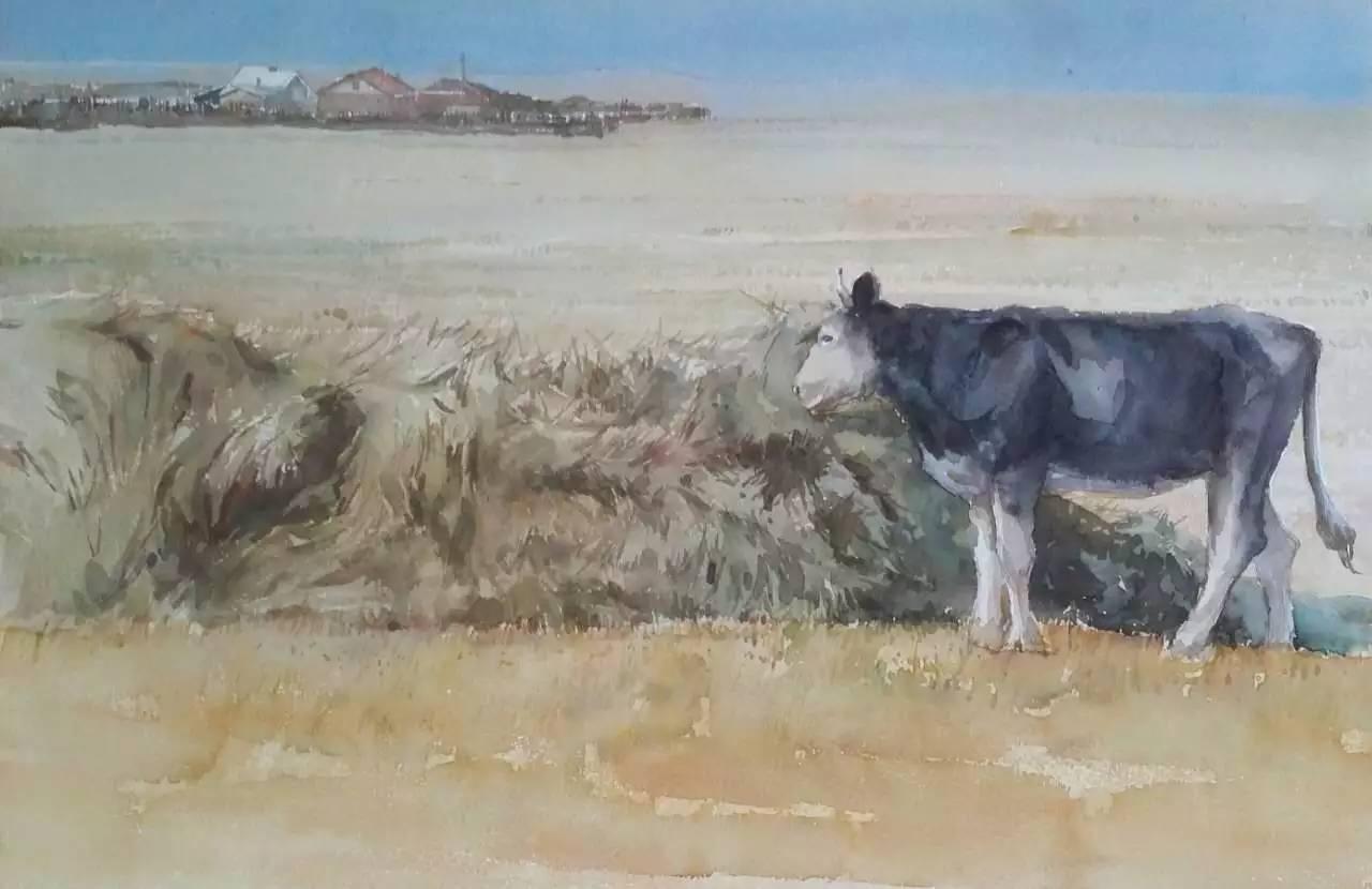 蒙古族青年画家白国君作品欣赏 第11张