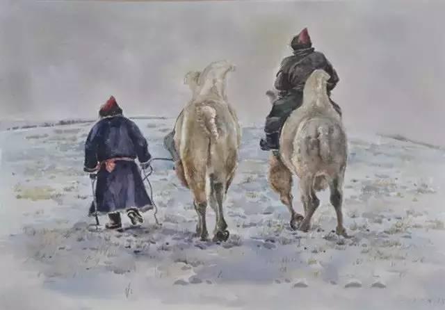 蒙古族青年画家白国君作品欣赏 第13张