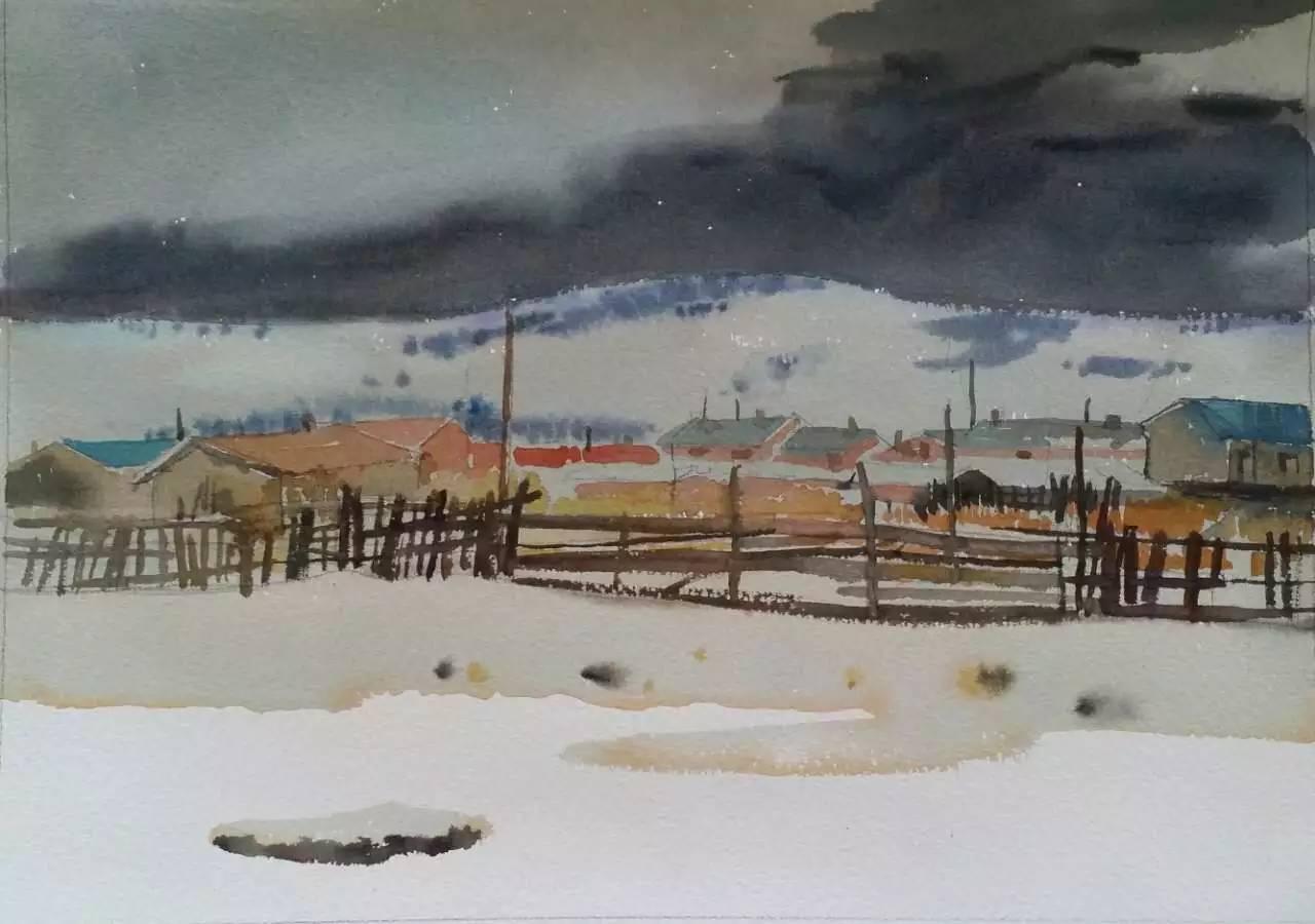 蒙古族青年画家白国君作品欣赏 第14张