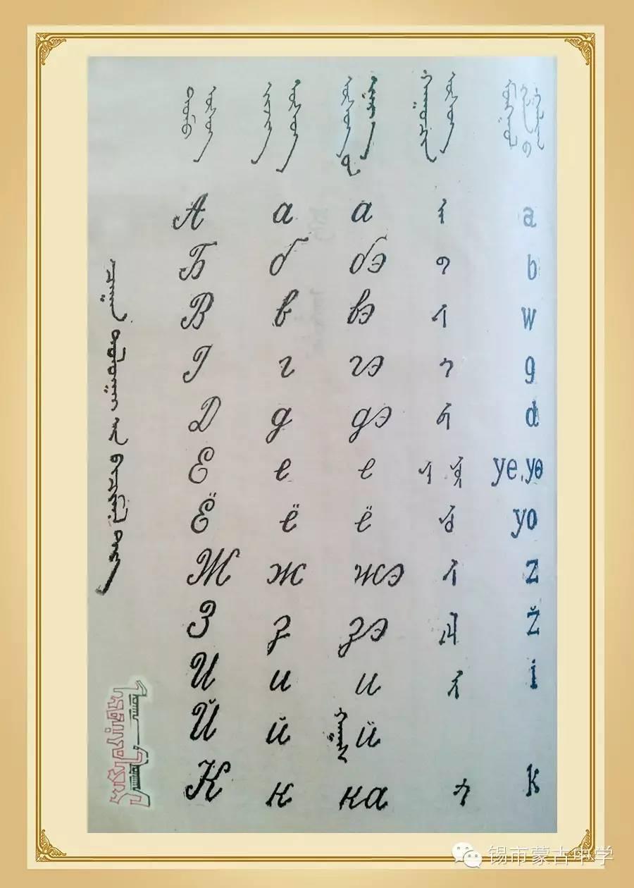 斯拉夫蒙文和维吾真蒙文对照表 第3张