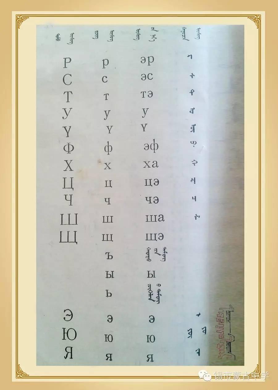 斯拉夫蒙文和维吾真蒙文对照表 第2张
