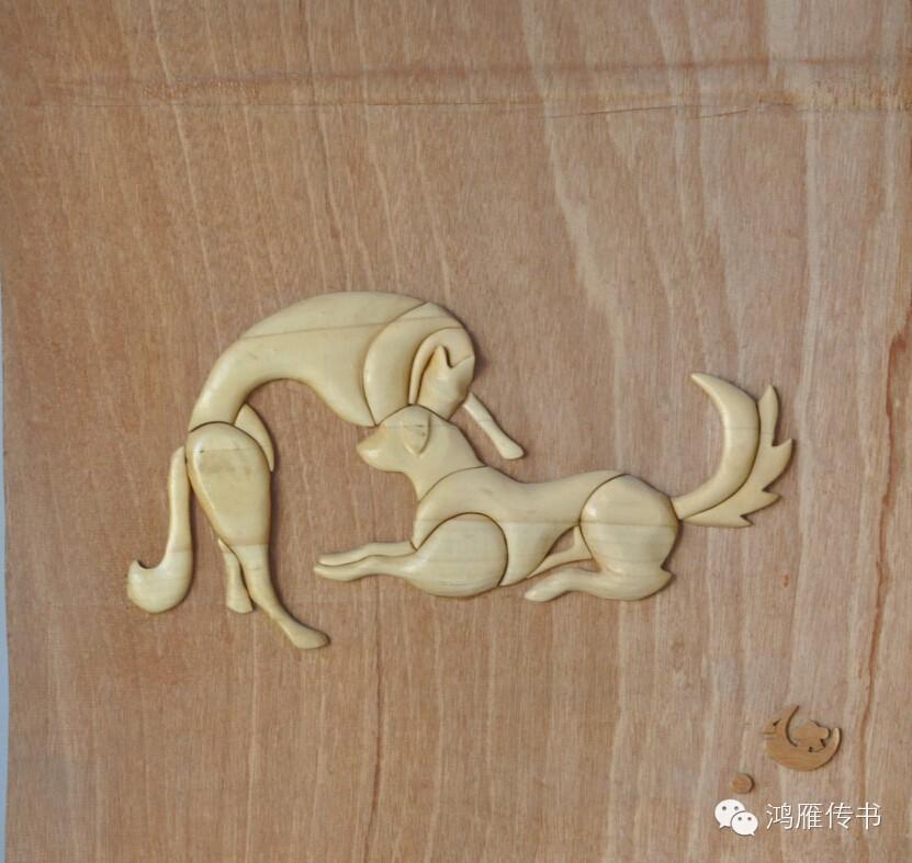 【蒙古人】乌拉特民间手工艺师达那巴拉木雕作品 第5张