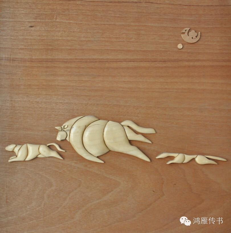 【蒙古人】乌拉特民间手工艺师达那巴拉木雕作品 第10张