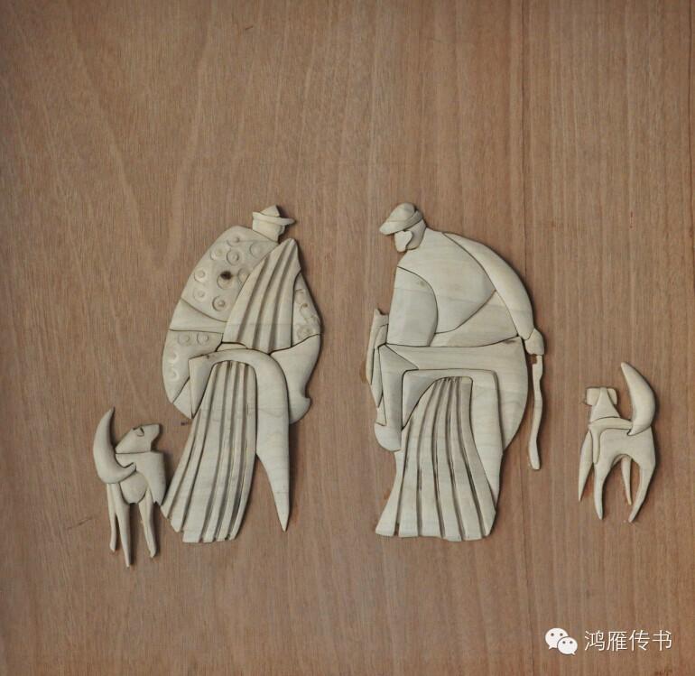 【蒙古人】乌拉特民间手工艺师达那巴拉木雕作品 第26张