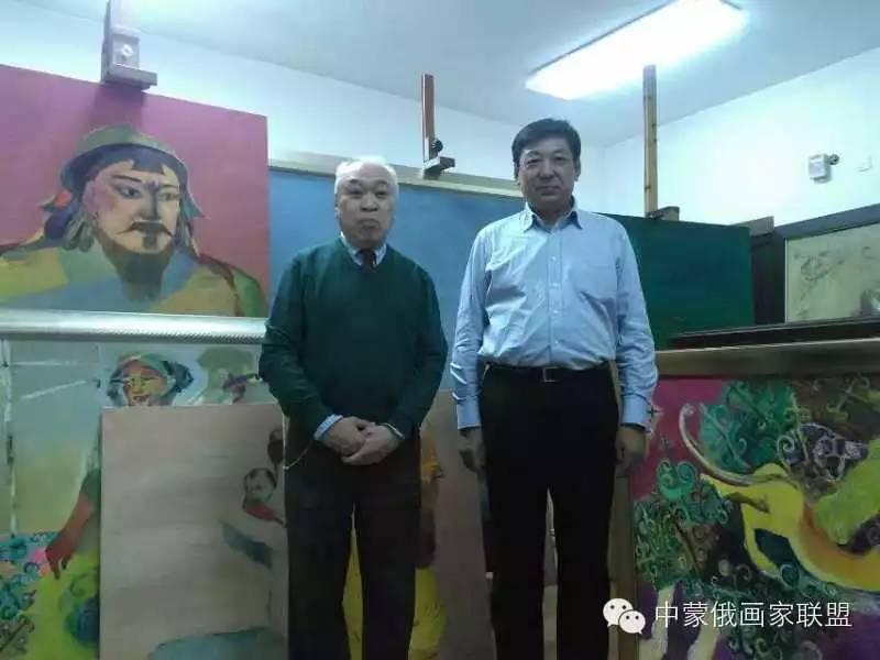 蒙古国油画大师-恩赫金、蒙赫金 第3张 蒙古国油画大师-恩赫金、蒙赫金 蒙古画廊