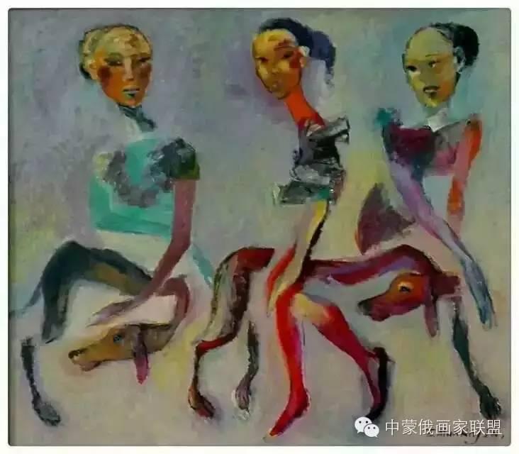 蒙古国油画大师-恩赫金、蒙赫金 第7张 蒙古国油画大师-恩赫金、蒙赫金 蒙古画廊