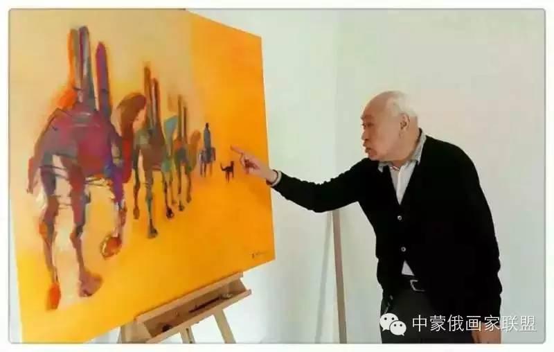 蒙古国油画大师-恩赫金、蒙赫金 第9张 蒙古国油画大师-恩赫金、蒙赫金 蒙古画廊