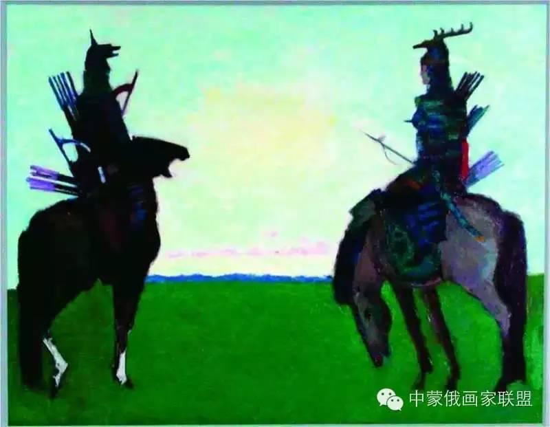 蒙古国油画大师-恩赫金、蒙赫金 第10张 蒙古国油画大师-恩赫金、蒙赫金 蒙古画廊