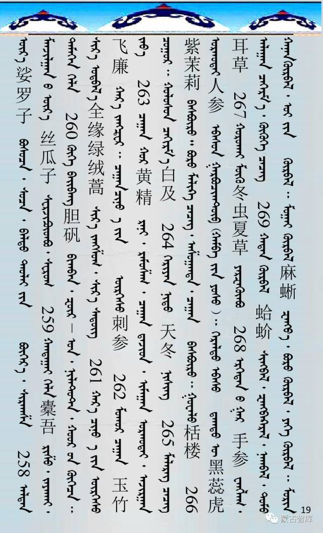 蒙古药材的蒙古、藏、汉译名称对照 第20张 蒙古药材的蒙古、藏、汉译名称对照 蒙古文库