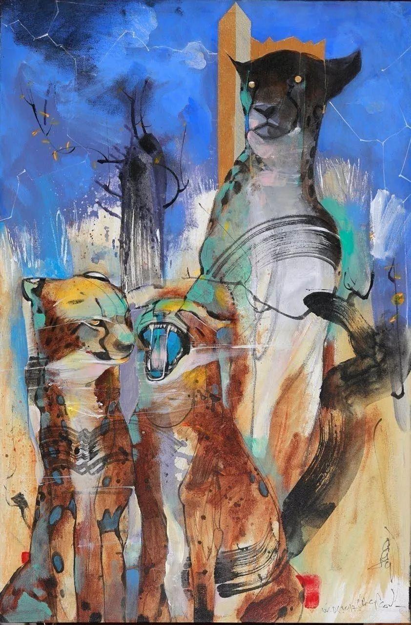 蒙古国著名画家刚巴特尔作品欣赏 ... 第5张