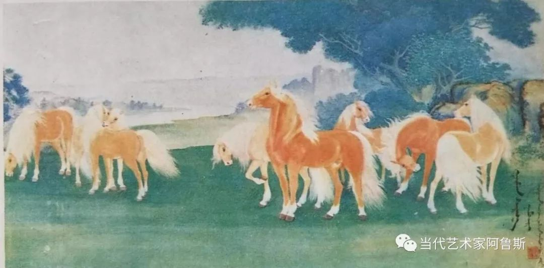 一代著名蒙古族画家那木斯来 第2张 一代著名蒙古族画家那木斯来 蒙古画廊