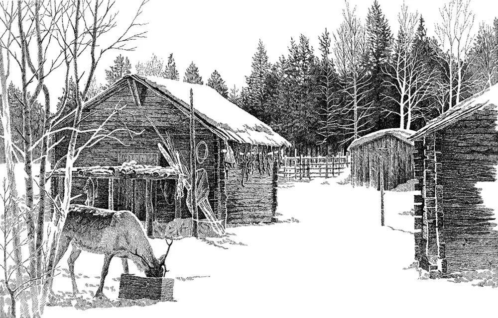 【央视画廊】蒙古族画家铁钢的钢笔画 第5张 【央视画廊】蒙古族画家铁钢的钢笔画 蒙古画廊