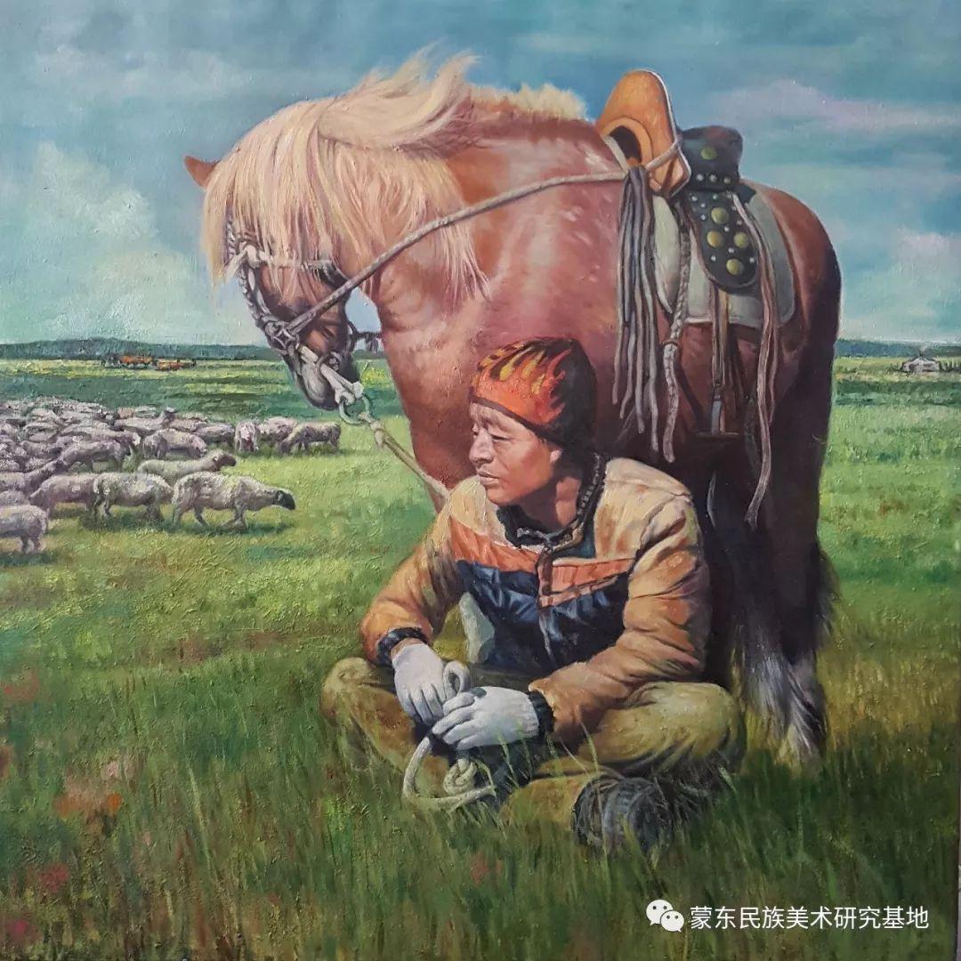 巴图油画作品——中国少数民族美术促进会,蒙东民族美术研究基地画家系列 第16张 巴图油画作品——中国少数民族美术促进会,蒙东民族美术研究基地画家系列 蒙古画廊