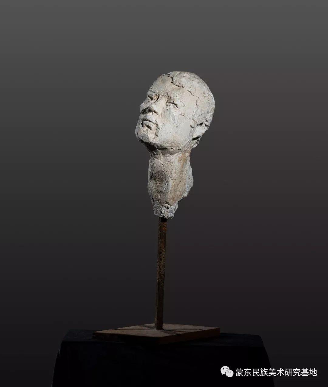 包格日乐吐作品——头像雕塑系列(二) 第2张 包格日乐吐作品——头像雕塑系列(二) 蒙古画廊