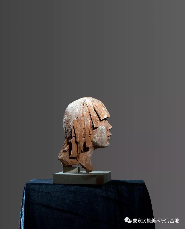 包格日乐吐作品——头像雕塑系列(二) 第4张 包格日乐吐作品——头像雕塑系列(二) 蒙古画廊