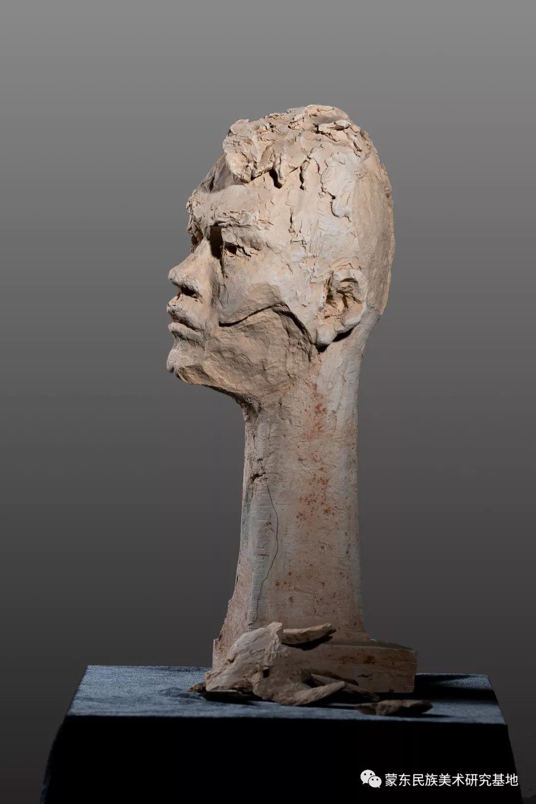 包格日乐吐作品——头像雕塑系列(二) 第11张 包格日乐吐作品——头像雕塑系列(二) 蒙古画廊