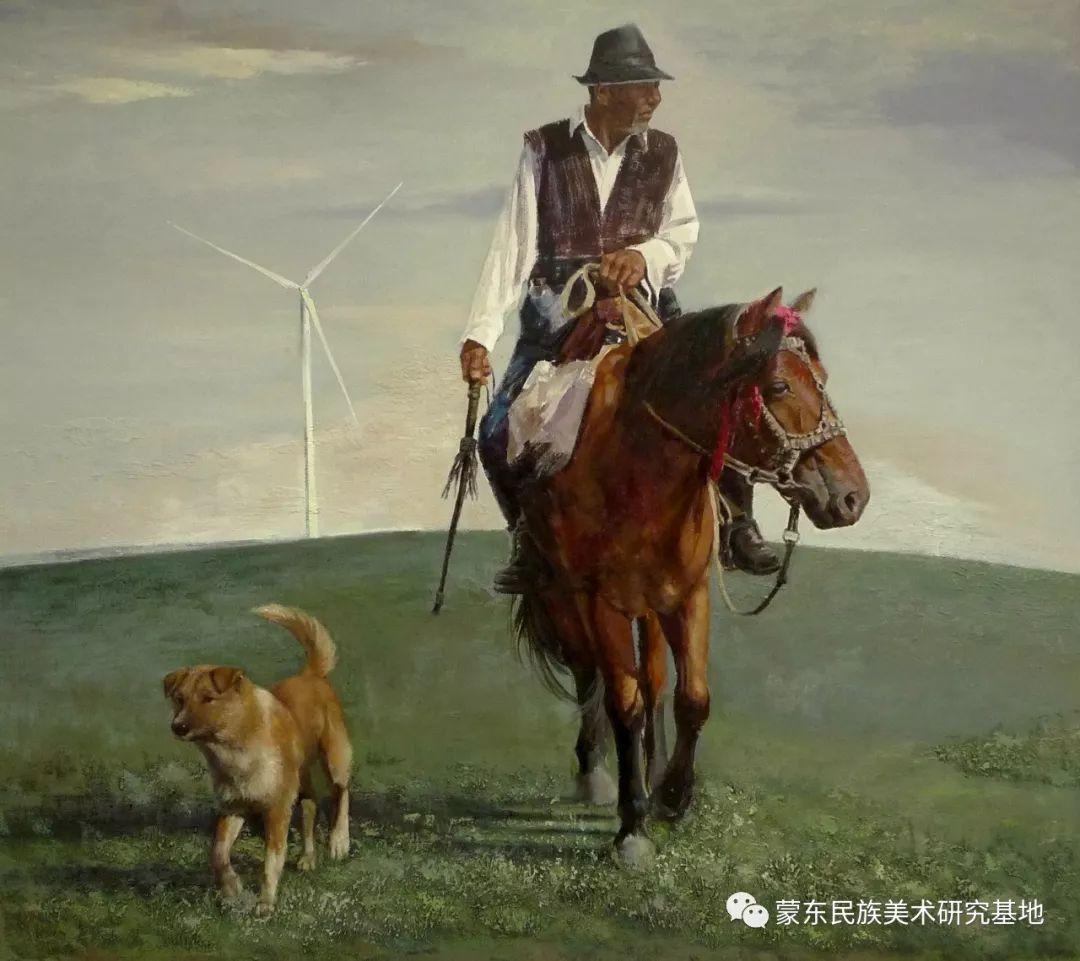 铁钢油画作品 第1张 铁钢油画作品 蒙古画廊
