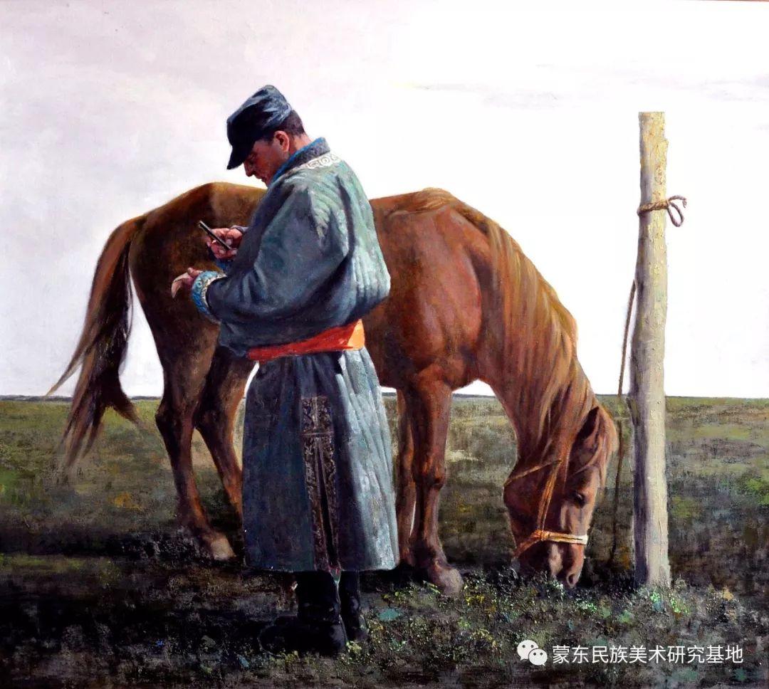 铁钢油画作品 第3张 铁钢油画作品 蒙古画廊