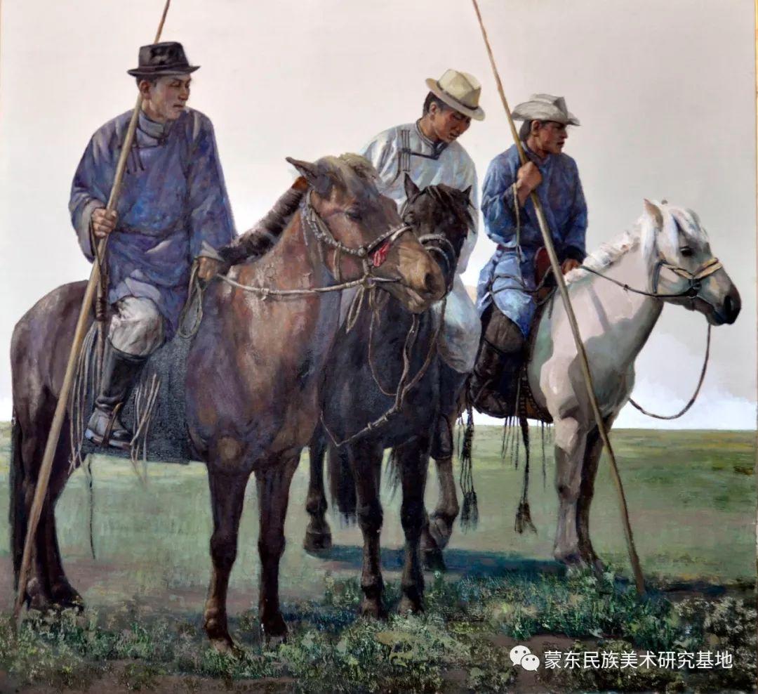 铁钢油画作品 第4张 铁钢油画作品 蒙古画廊