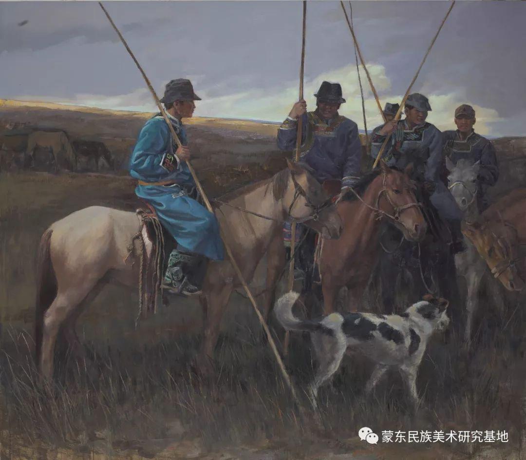 铁钢油画作品 第6张 铁钢油画作品 蒙古画廊
