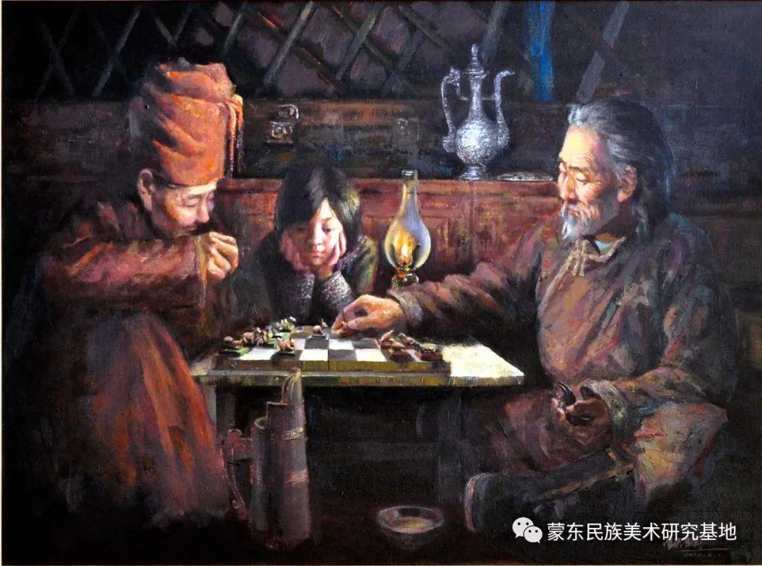铁钢油画作品 第7张 铁钢油画作品 蒙古画廊