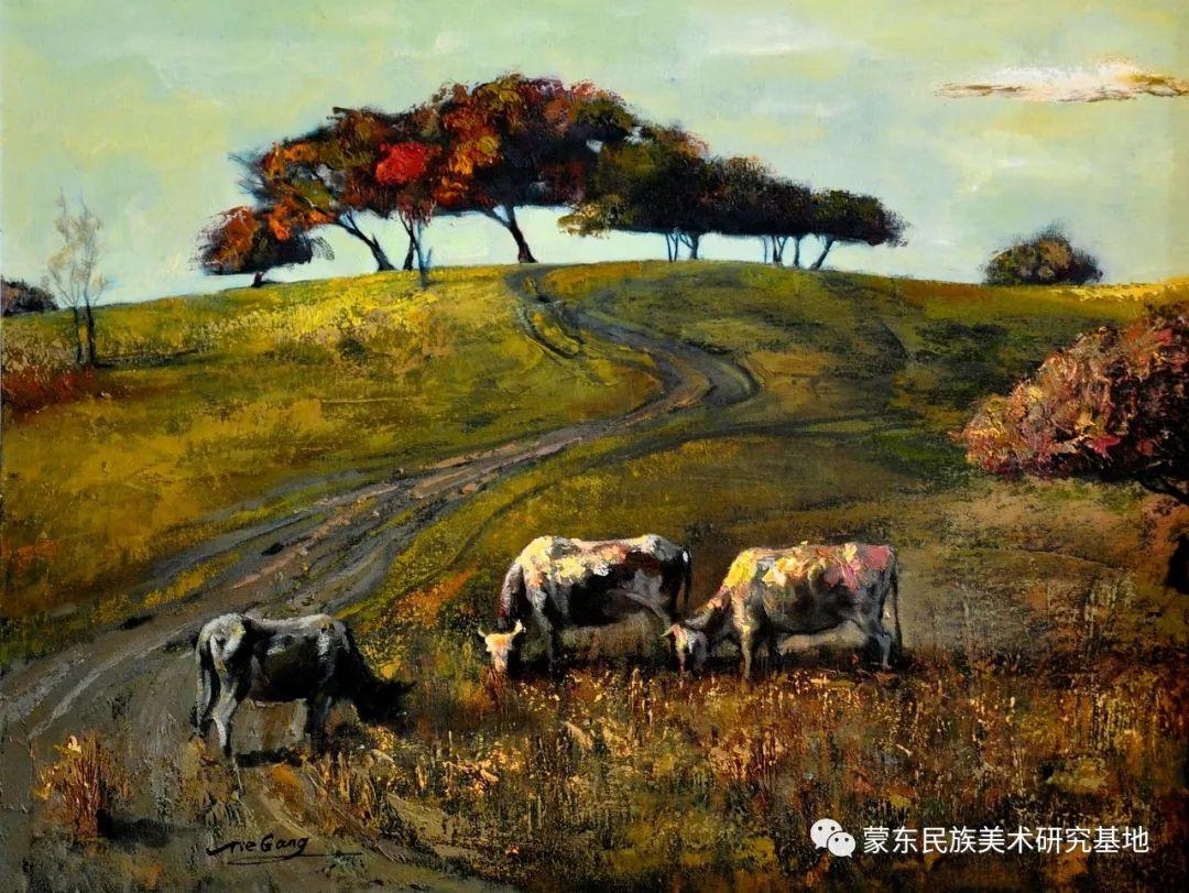 铁钢油画作品 第8张 铁钢油画作品 蒙古画廊