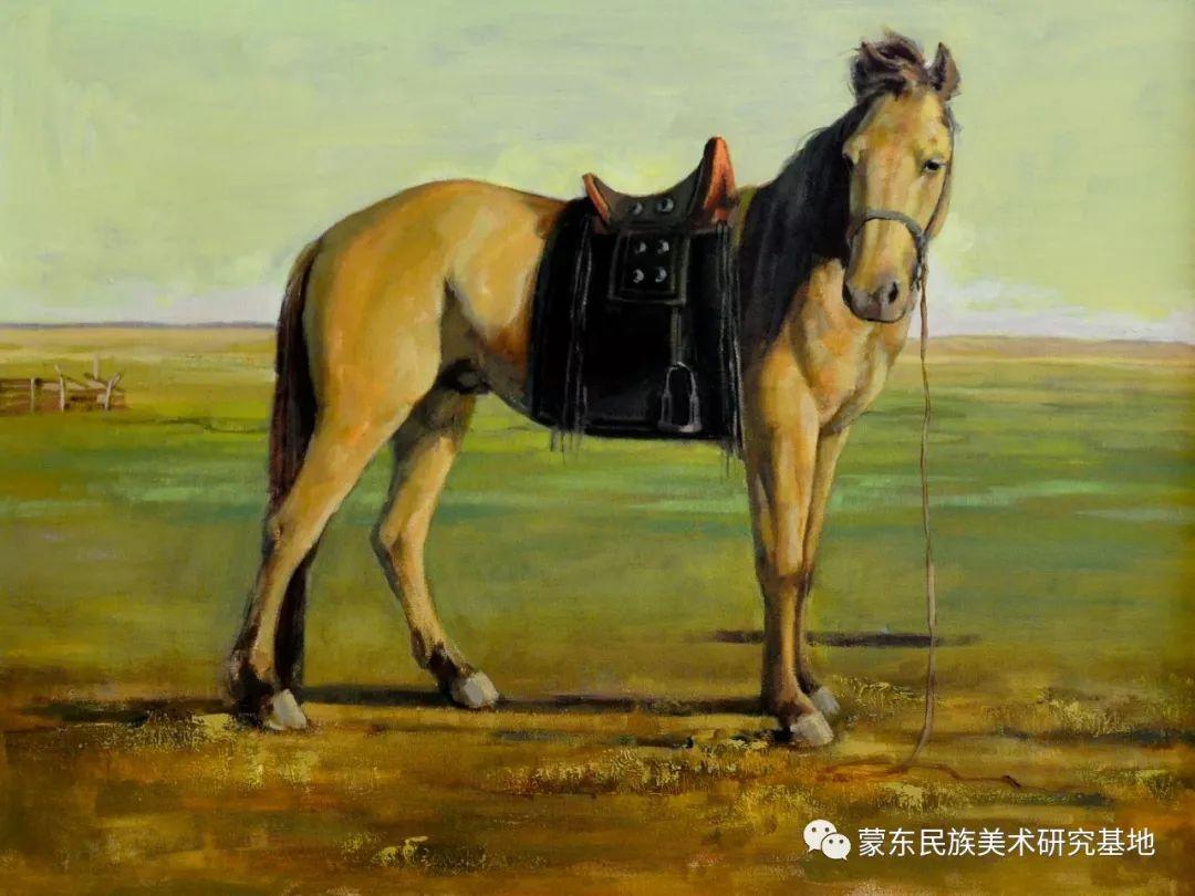 铁钢油画作品 第11张 铁钢油画作品 蒙古画廊