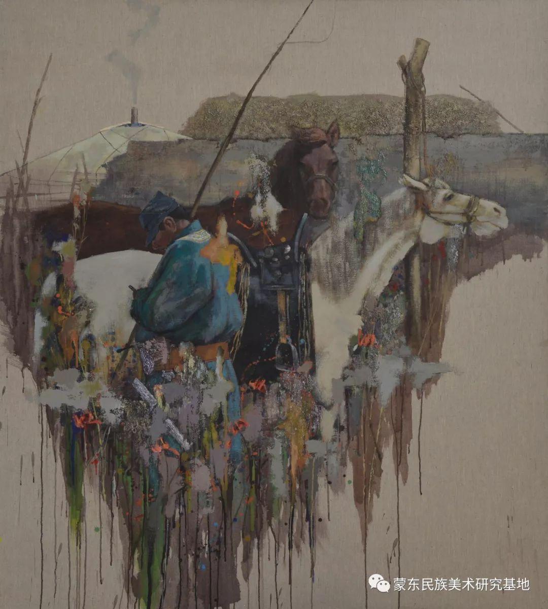 铁钢油画作品 第13张 铁钢油画作品 蒙古画廊