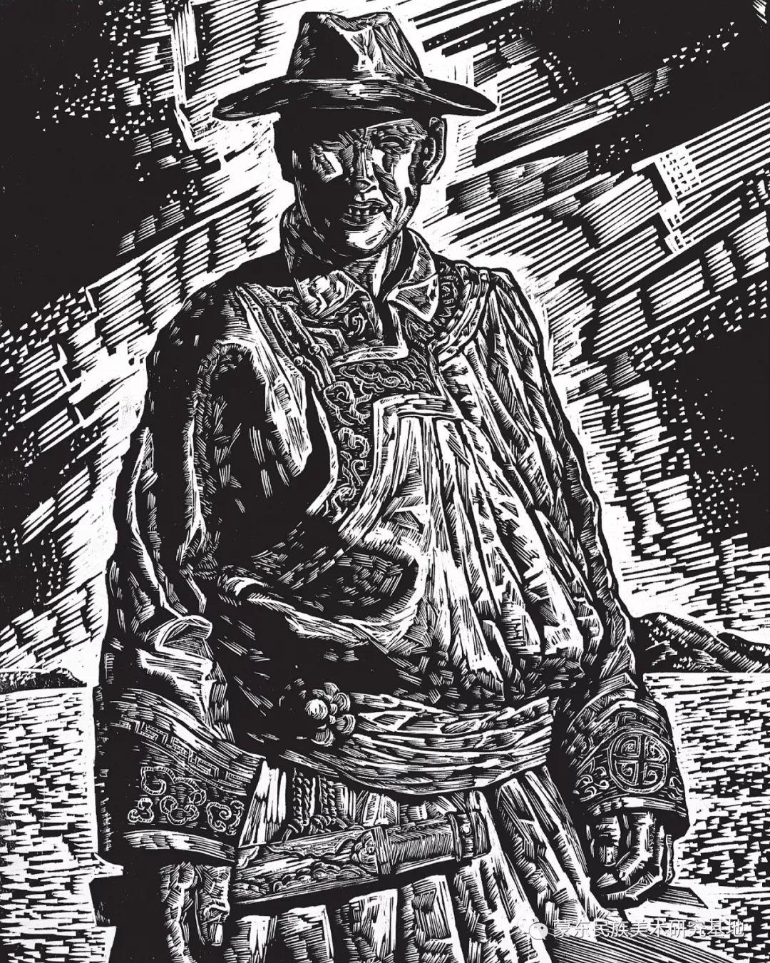 秦晓伟版画作品——中国少数民族美术促进会,蒙东民族美术研究基地画家系列 第9张 秦晓伟版画作品——中国少数民族美术促进会,蒙东民族美术研究基地画家系列 蒙古画廊