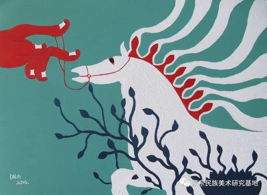 娜恩达拉油画作品——中国少数民族美术促进会,蒙东民族美术研究基地画家系列 第4张 娜恩达拉油画作品——中国少数民族美术促进会,蒙东民族美术研究基地画家系列 蒙古画廊