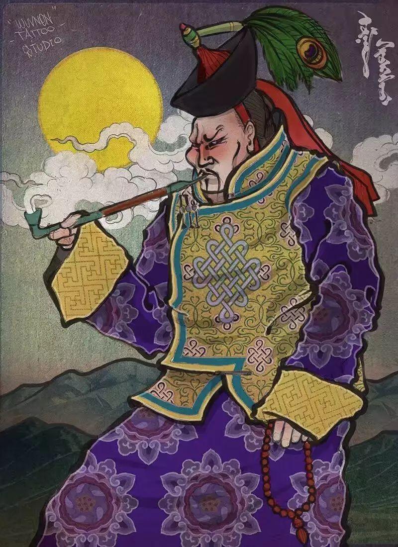 「無南icon」细数無南刺青当中出现过的蒙古人物形象 第3张 「無南icon」细数無南刺青当中出现过的蒙古人物形象 蒙古画廊