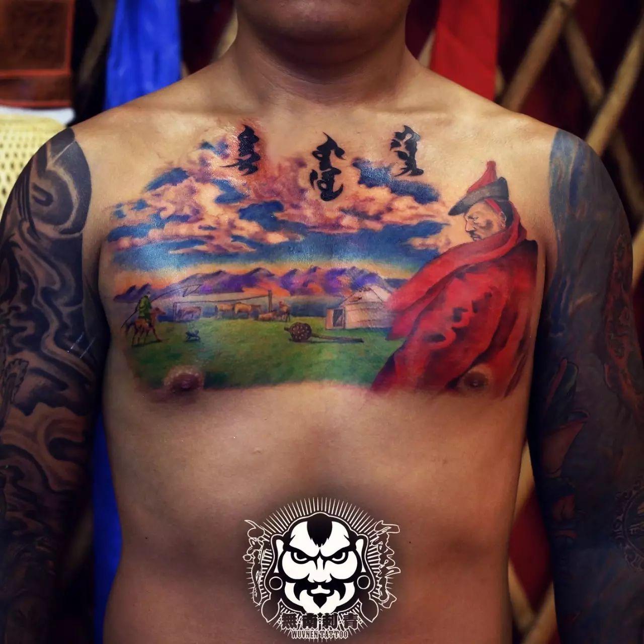 「無南icon」细数無南刺青当中出现过的蒙古人物形象 第15张 「無南icon」细数無南刺青当中出现过的蒙古人物形象 蒙古画廊