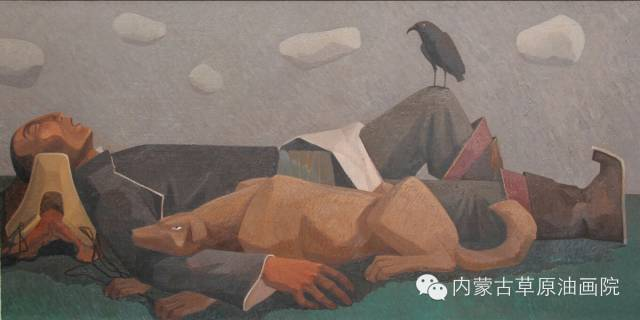 🔴内蒙古草原油画院画家--都仁毕力格 第2张 🔴内蒙古草原油画院画家--都仁毕力格 蒙古画廊
