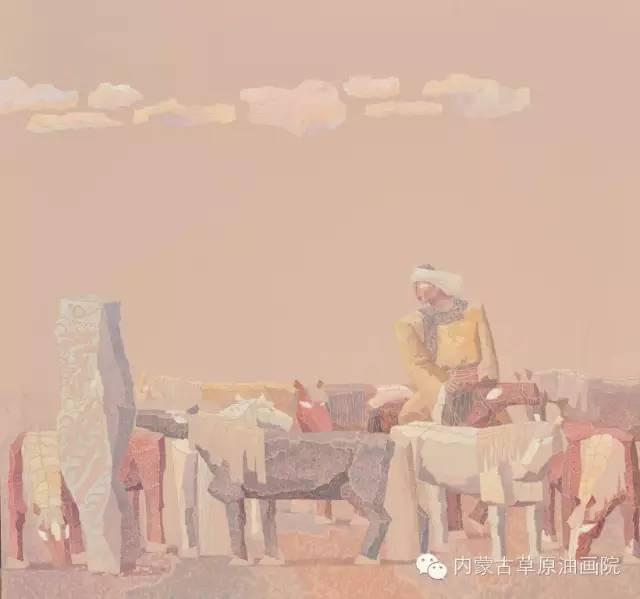 🔴内蒙古草原油画院画家--都仁毕力格 第6张 🔴内蒙古草原油画院画家--都仁毕力格 蒙古画廊