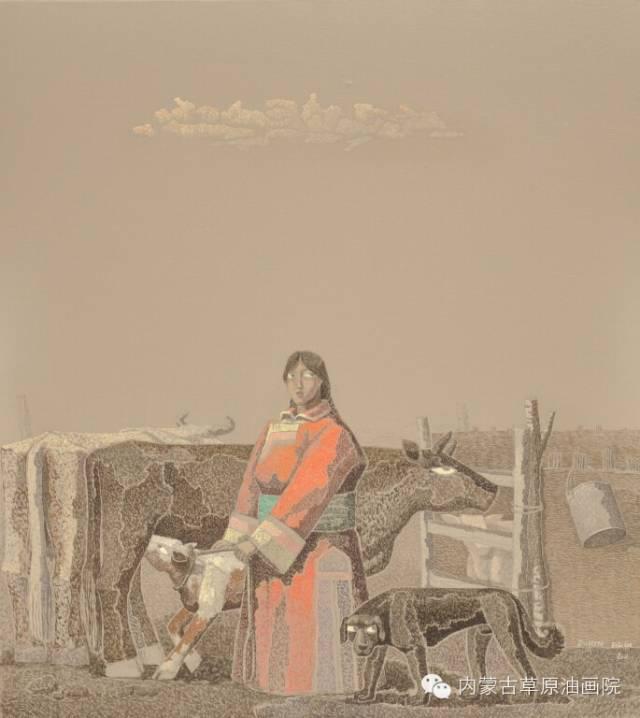 🔴内蒙古草原油画院画家--都仁毕力格 第3张 🔴内蒙古草原油画院画家--都仁毕力格 蒙古画廊