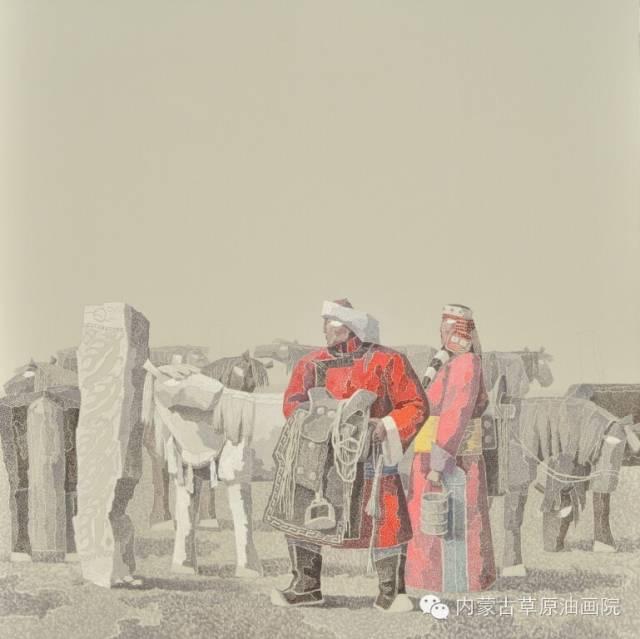 🔴内蒙古草原油画院画家--都仁毕力格 第5张 🔴内蒙古草原油画院画家--都仁毕力格 蒙古画廊