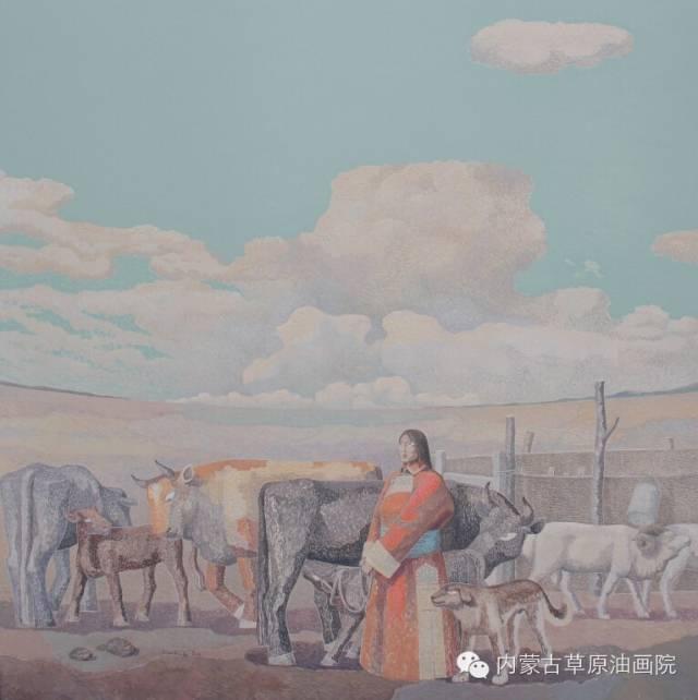🔴内蒙古草原油画院画家--都仁毕力格 第4张 🔴内蒙古草原油画院画家--都仁毕力格 蒙古画廊