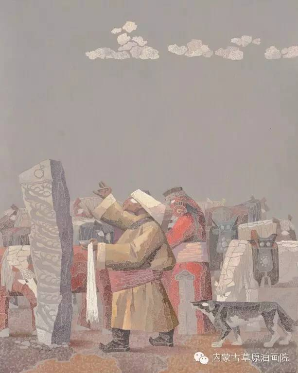 🔴内蒙古草原油画院画家--都仁毕力格 第9张 🔴内蒙古草原油画院画家--都仁毕力格 蒙古画廊