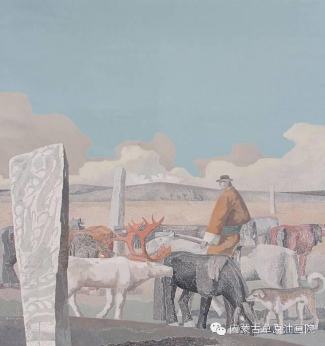 🔴内蒙古草原油画院画家--都仁毕力格 第10张 🔴内蒙古草原油画院画家--都仁毕力格 蒙古画廊
