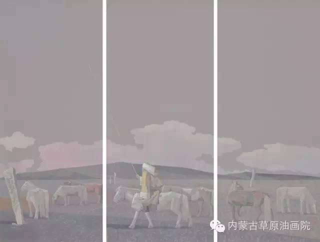 🔴内蒙古草原油画院画家--都仁毕力格 第11张 🔴内蒙古草原油画院画家--都仁毕力格 蒙古画廊