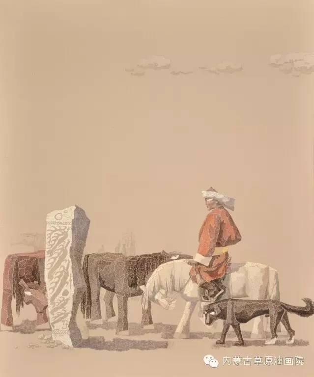 🔴内蒙古草原油画院画家--都仁毕力格 第7张 🔴内蒙古草原油画院画家--都仁毕力格 蒙古画廊