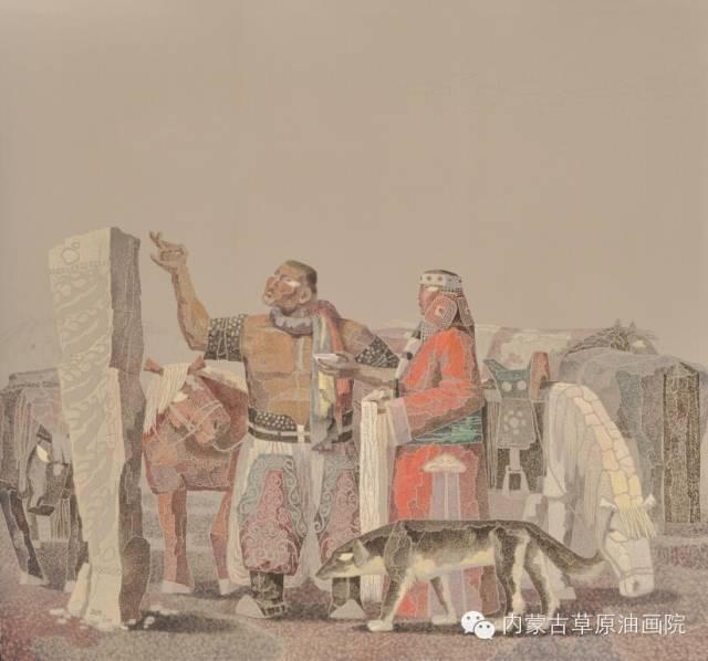 🔴内蒙古草原油画院画家--都仁毕力格 第8张 🔴内蒙古草原油画院画家--都仁毕力格 蒙古画廊
