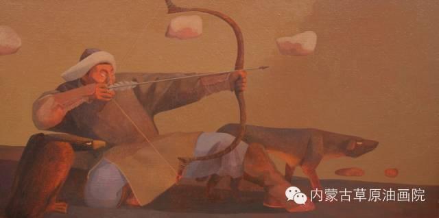 🔴内蒙古草原油画院画家--都仁毕力格 第13张 🔴内蒙古草原油画院画家--都仁毕力格 蒙古画廊