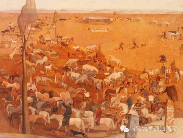 🔴内蒙古草原油画院画家--都仁毕力格 第12张 🔴内蒙古草原油画院画家--都仁毕力格 蒙古画廊